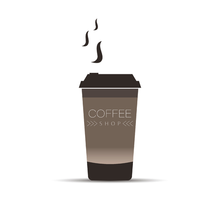 coffee cup icon vector illustration on white background