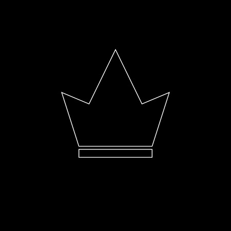 Crown Icon in trendy flat style isolated on black background. Crown symbol for your web site design, logo, app, UI. Vector illustration Stock Illustratie