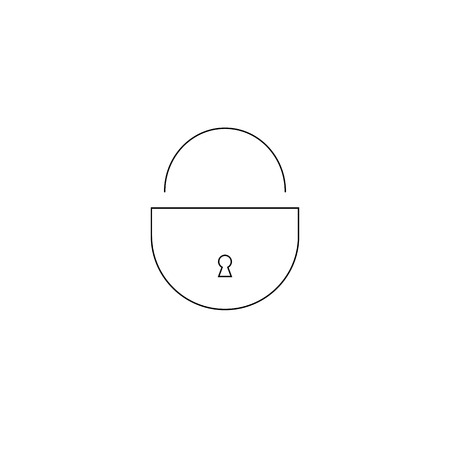 lock icon on white background. security concept