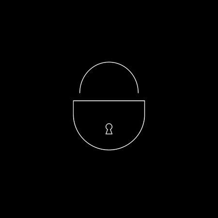 lock icon on black background. security concept