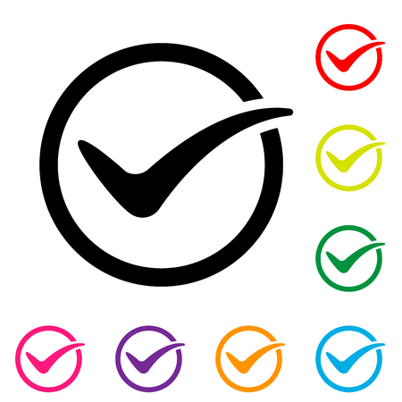 Tick icon. vector icon on white background. simple illustration