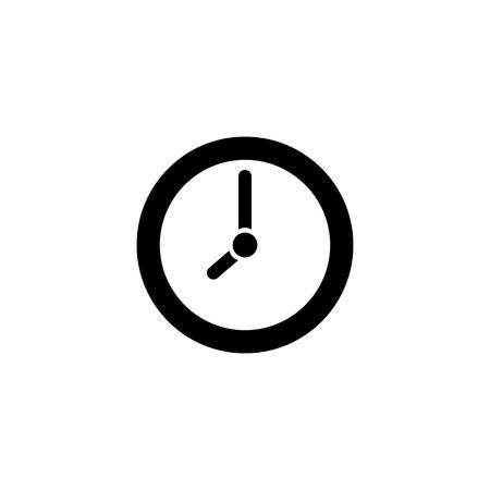 Clock icon in trendy flat style. Vector illustration EPS10. Ilustração