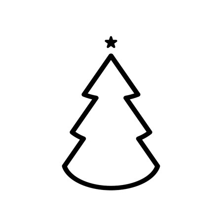 Christmas trees icon, vector simple design EPS10