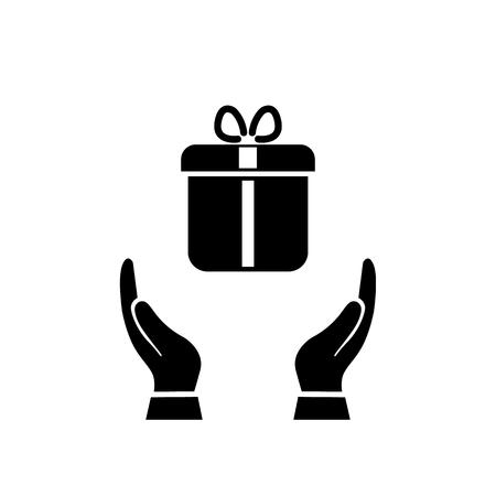Illustration of gift icon on white background EPS10