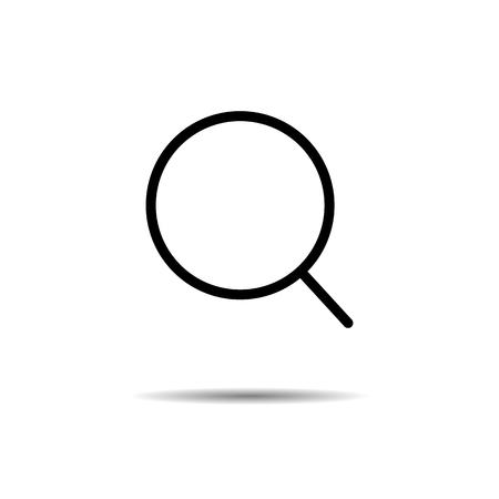 Search icon. vector symbol isolated on white background EPS10 Ilustração