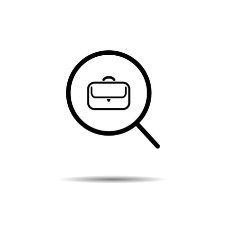 job search concept. vector symbol icon Ilustração