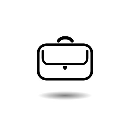 businessman bag. Vector icon on white background EPS10