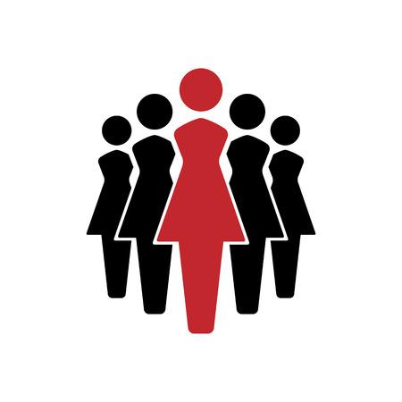 Women icons set, team icon group. vector illustration