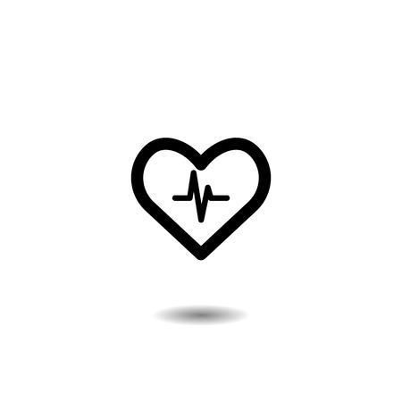 Heart icon. concept healthy. vector symbol EPS10