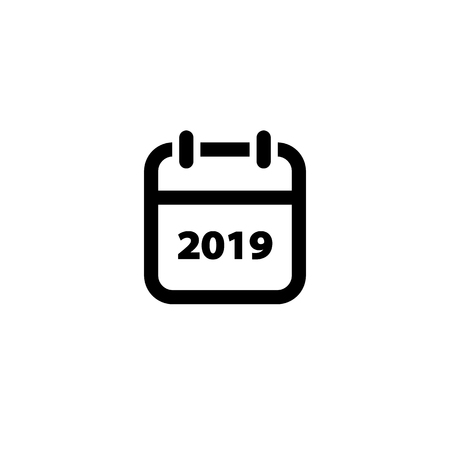Calendar new year 2019 vector icon isolated on white background EPS10