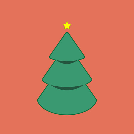 Christmas trees icon, vector simple design symbol