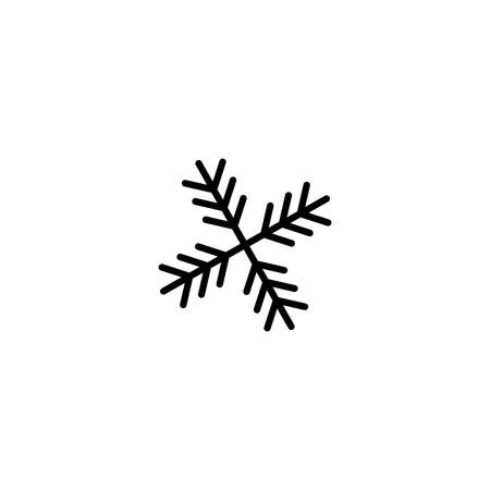 snowflake icon in flat style isolatedon white background EPS10 Imagens - 126344419