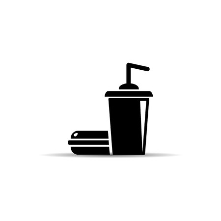 Fast Food icon. burger and soda. vector illustration EPS10