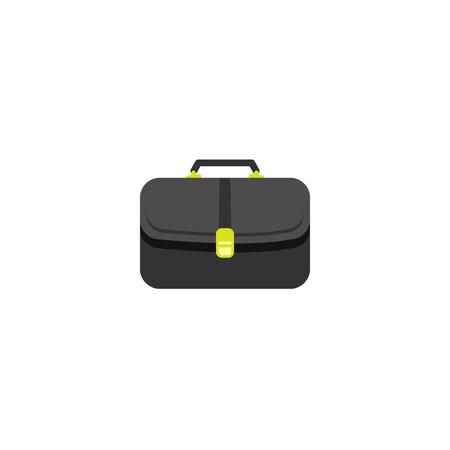 Aktenkoffer-Symbol. Vektor flaches Logo moderner Stil