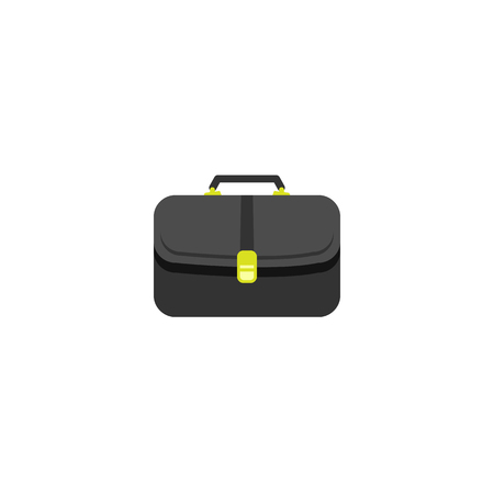 Briefcase icon. vector flat logo modern style Illustration