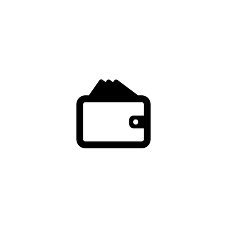 Wallet Icon in trendy flat style isolated on grey background. Wallet symbol for your web site design, logo, app, UI. Vector illustration, EPS10.
