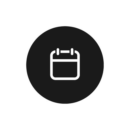 Calendar icon. vector symbol isolated on white background EPS10 Imagens - 126344434