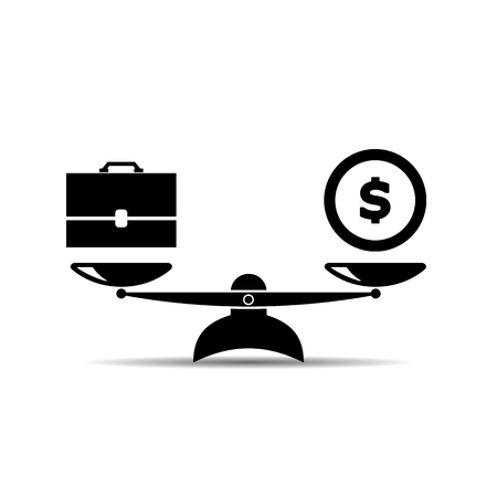 scale icon. job and money. vector symbol EPS10