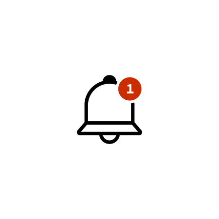 notification icon. one new notice. vector symbol EPS10 Imagens - 126344451
