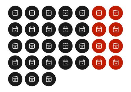 Calendar icon. vector symbol isolated on white background EPS10 Imagens - 126344463