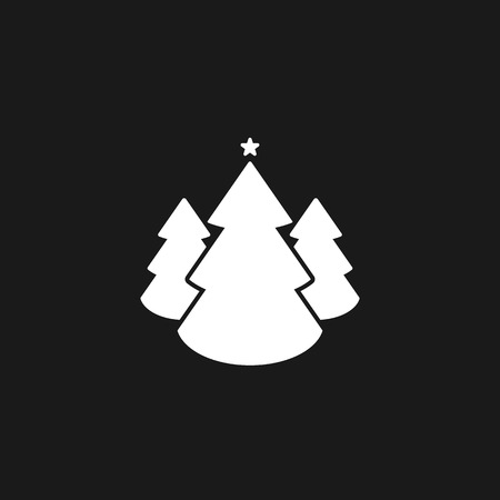 Christmas trees icon, vector simple design EPS10 Imagens - 126344465