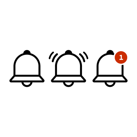 Bell outline icon vector, Alarm, notification icon EPS10
