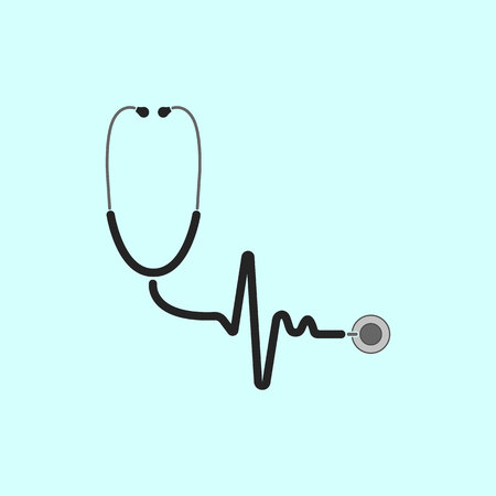 Health concept, stethoscope vector illustration