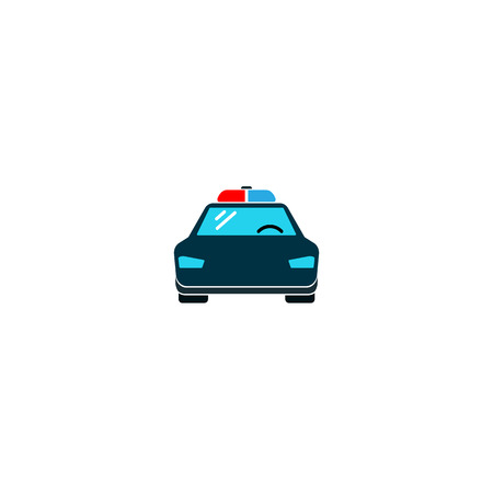 Police car icon. vector symbol Illustration