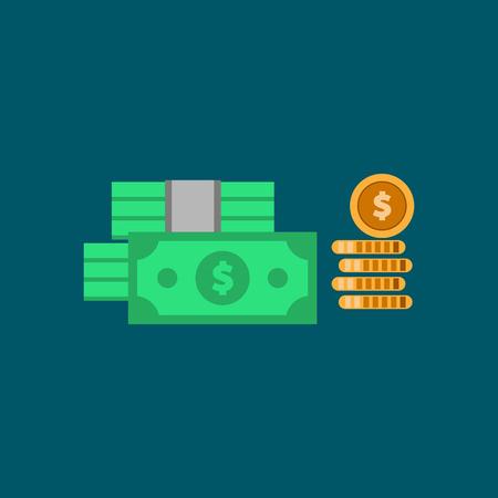 Concept big money. Big pile of cash. Hundreds of dollars. Vector isometric illustration. vector EPS10 Imagens - 126344484