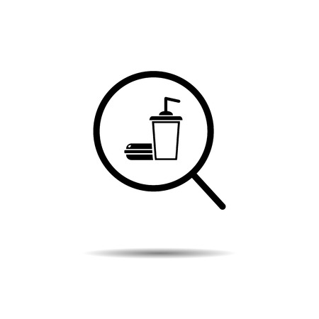 fast food search concept. vector symbol icon EPS10 Imagens - 126344491