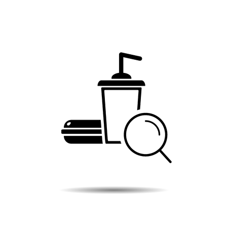fast food search concept. vector symbol icon EPS10 Imagens - 126344492