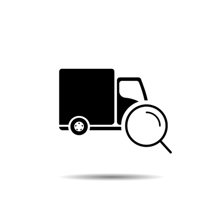 search for delivery truck. vector symbol icon EPS10 Ilustração