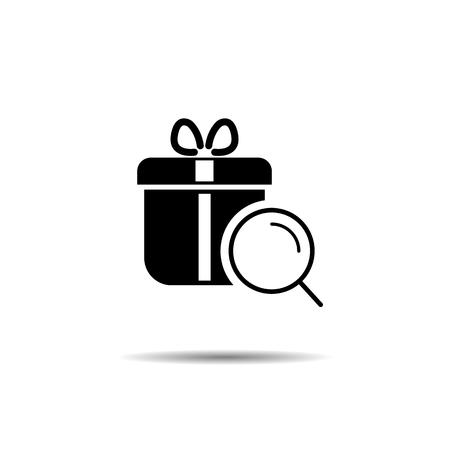 search for a gift. surprise search concept. vector