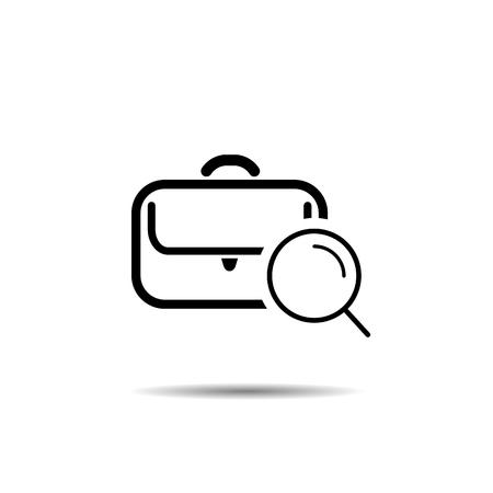 job search concept. vector symbol icon Imagens - 126344497