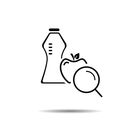 healthy lifestyle search concept. vector symbol icon EPS10