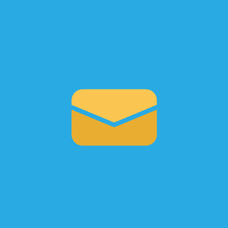 Messages icon with notification. Envelope with incoming message. Vector symbol. EPS10