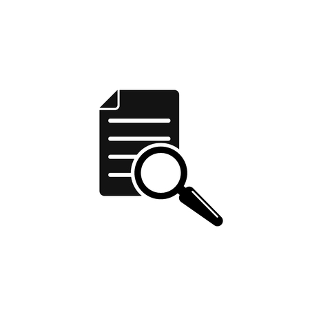 Magnifier assessment checklist icon. Vector flat style symbol. EPS10 Illustration