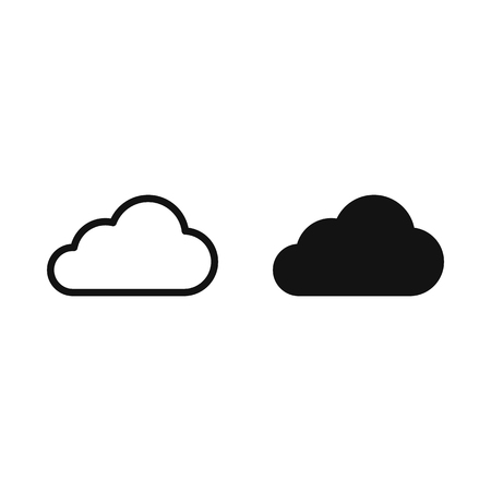 Cloud icon Flat. vector symbol on white background EPS10