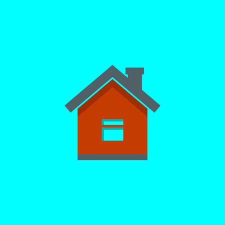 home icon, vector real estate house  イラスト・ベクター素材