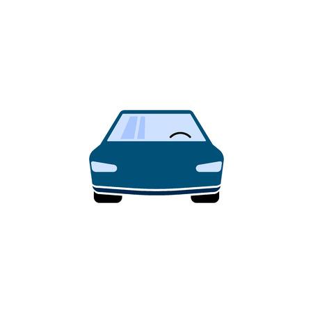 Car icon vector. Simple color car sign
