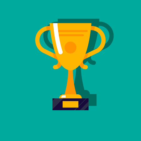 gold cup Celebration background symbol  イラスト・ベクター素材