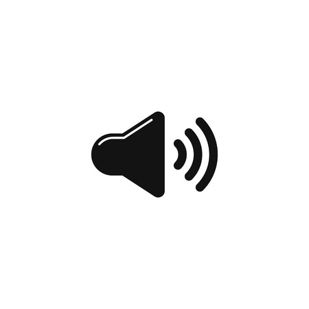 Sound volume icon vector sign on white background EPS10