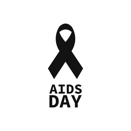 red ribbon. world aids day. vector sign EPS10