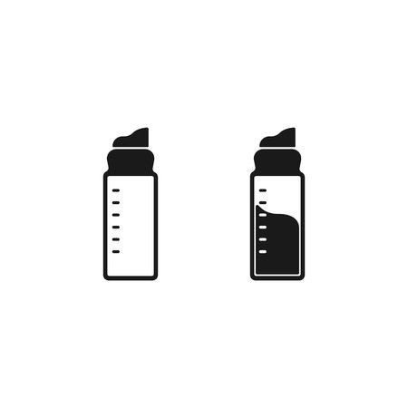 line bottle Icon sport sign on white background EPS10