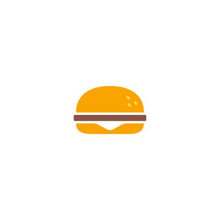 Fast food icon, burger icon. vector illustration EPS10