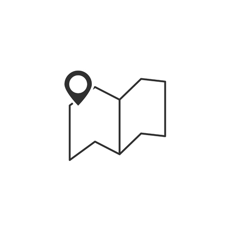 Location icon. Map pointer symbol. Vector EPS10 Ilustração