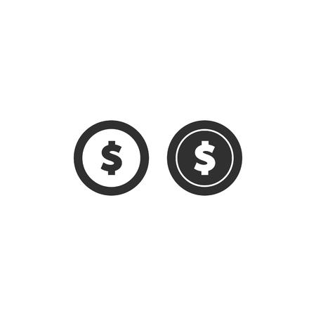 Money icon. vector coin icon flat illustration