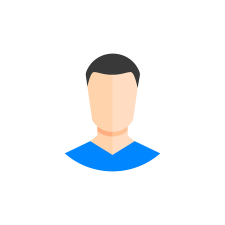 Business man icon, avatar symbol. Female pictogram. vector illustration EPS10