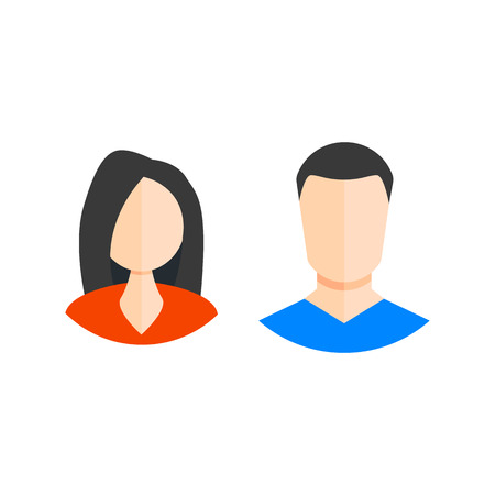 man and woman icon. web icons flat style. vector illustration