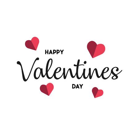 Happy Valentines Day typography poster. background. vector illustration Ilustração
